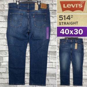NWT Levis 514 Straight 40 x 30 Medium Wash Jeans